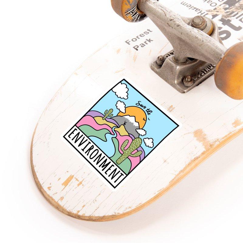 Save the environment Accessories Sticker by Art & design by Maria Daniela Hästö
