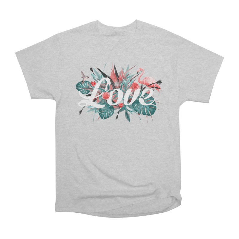 Tropical birdies - Red Women's T-Shirt by Art & design by Maria Daniela Hästö