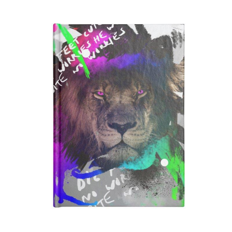 Lion print Accessories Notebook by Art & design by Maria Daniela Hästö