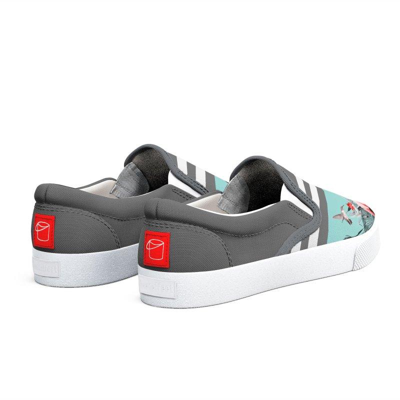 Tropical birdies - Mint Men's Shoes by Art & design by Maria Daniela Hästö
