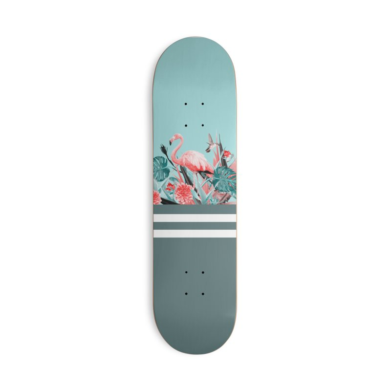 Tropical birdies - Mint Accessories Skateboard by Art & design by Maria Daniela Hästö