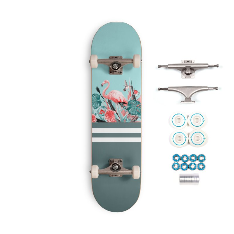 Tropical birdies - Mint Accessories Skateboard by Art & design by Maria Daniela Hästö