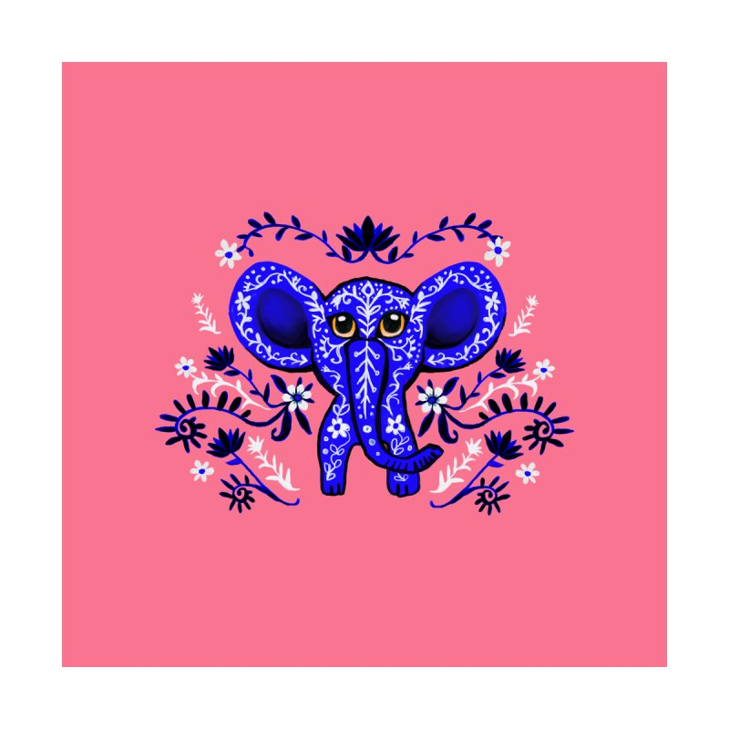Blue elephant Accessories Sticker by Art & design by Maria Daniela Hästö