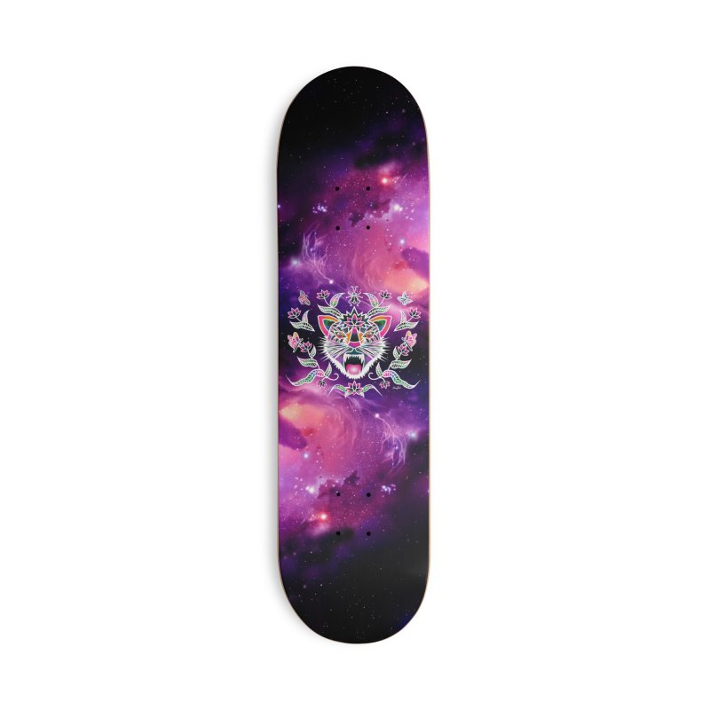 Batik space cat Accessories Skateboard by Art & design by Maria Daniela Hästö