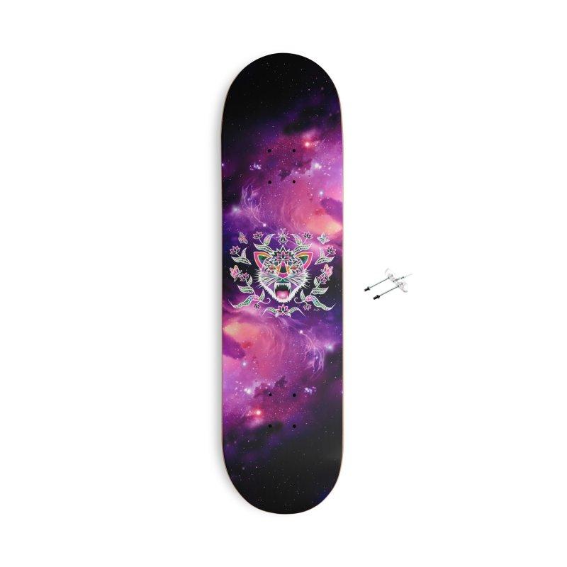 Batik space cat Accessories Skateboard by Art & design by Maria Daniela Hästö