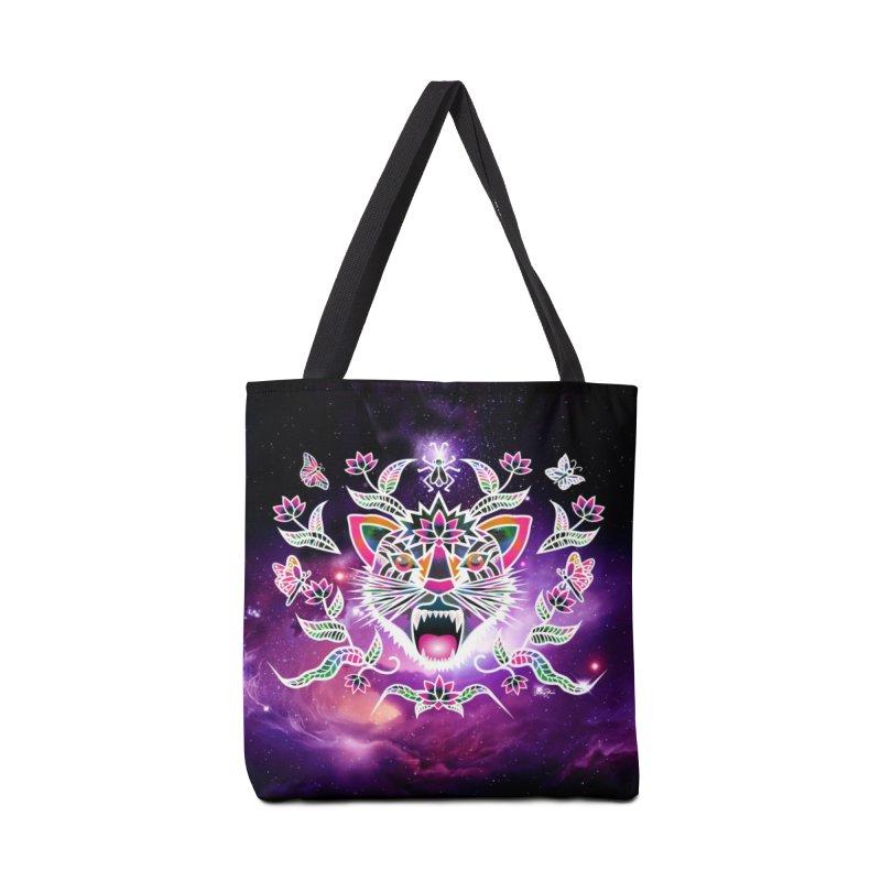 Batik space cat Accessories Bag by Art & design by Maria Daniela Hästö