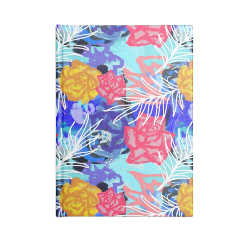 Floral pattern Accessories Notebook by Art & design by Maria Daniela Hästö