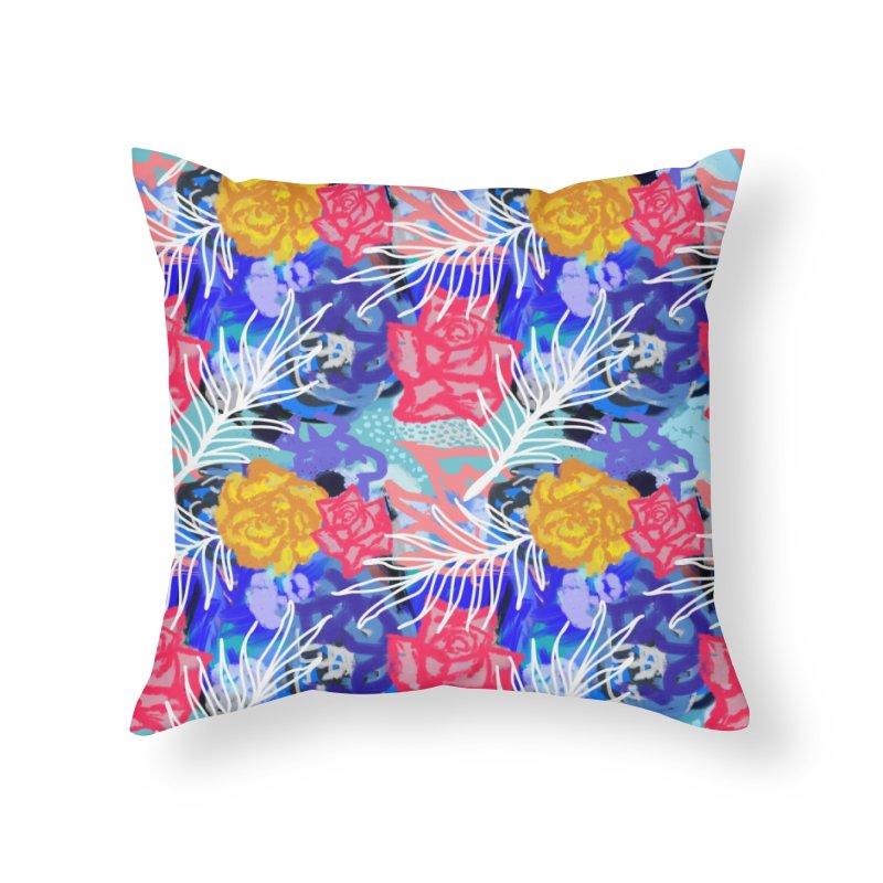 Floral pattern Home Throw Pillow by Art & design by Maria Daniela Hästö