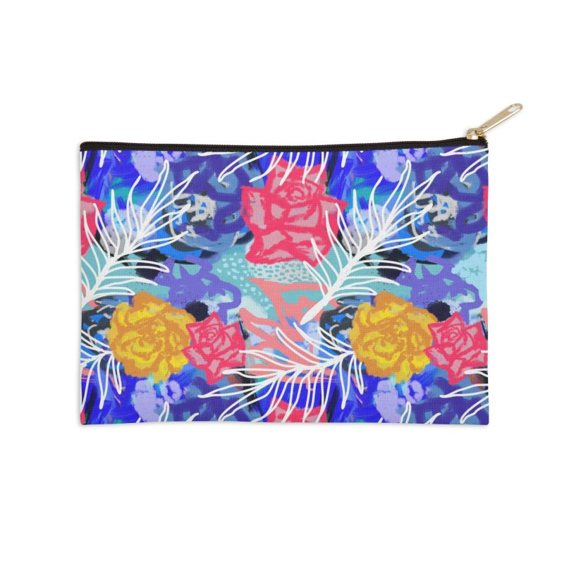 Floral pattern Accessories Zip Pouch by Art & design by Maria Daniela Hästö