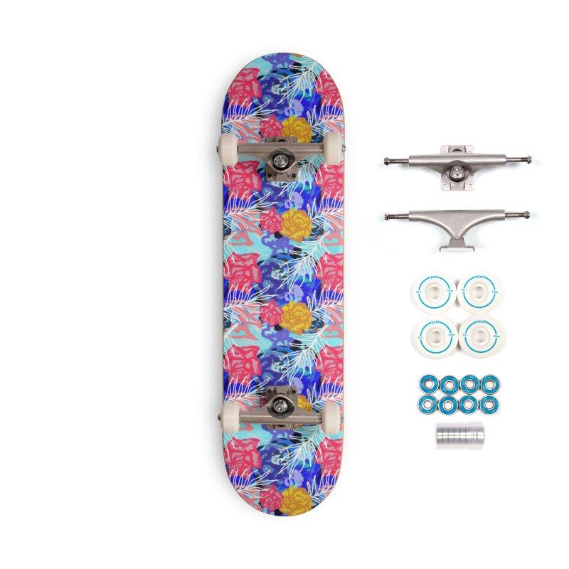 Floral pattern Accessories Skateboard by Art & design by Maria Daniela Hästö