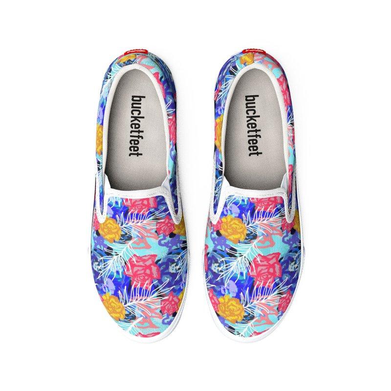 Floral pattern Men's Shoes by Art & design by Maria Daniela Hästö