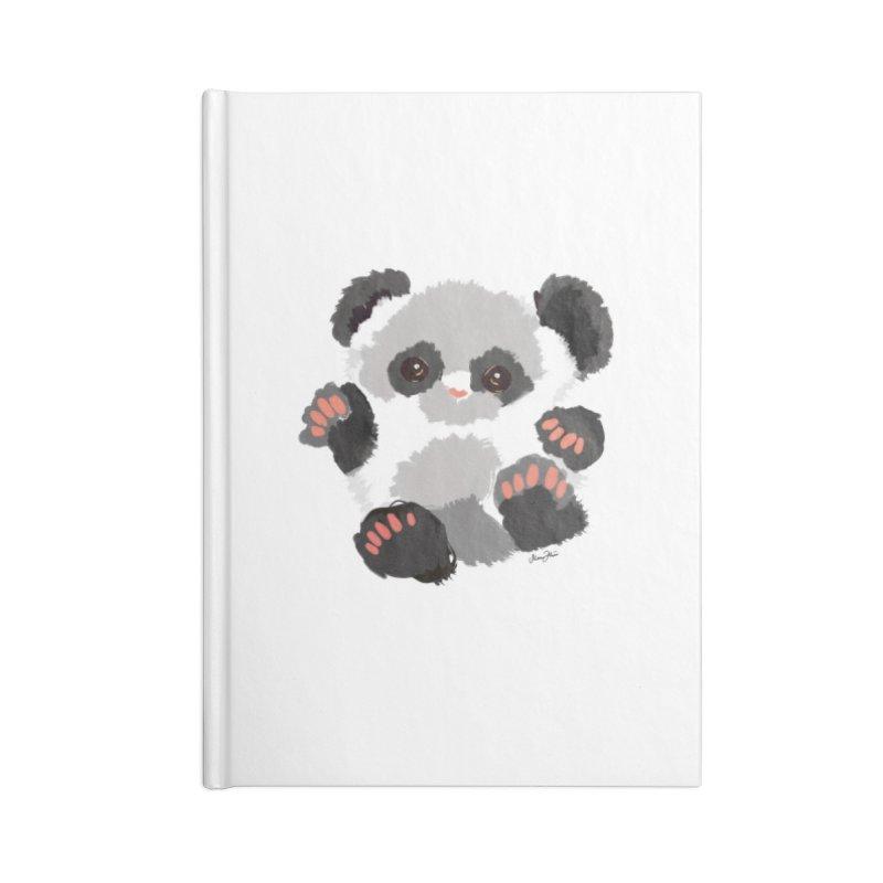 Baby panda Accessories Notebook by Art & design by Maria Daniela Hästö