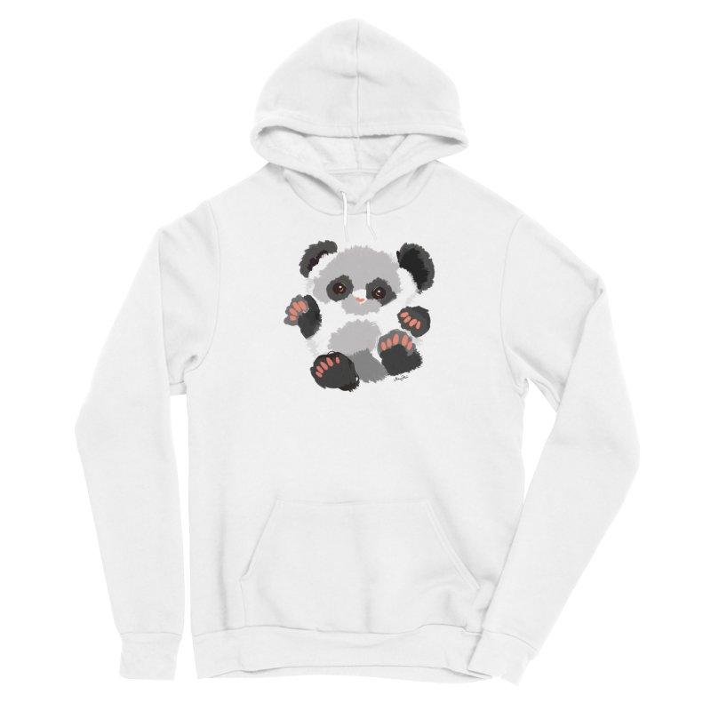 Baby panda Women's Pullover Hoody by Art & design by Maria Daniela Hästö