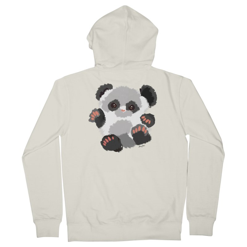 Baby panda Men's Zip-Up Hoody by Art & design by Maria Daniela Hästö