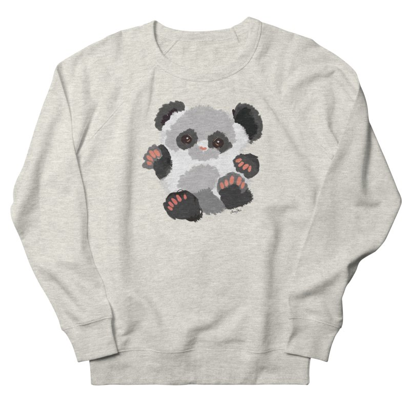 Baby panda Men's Sweatshirt by Art & design by Maria Daniela Hästö