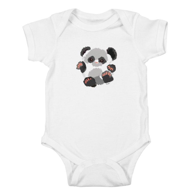 Baby panda Kids Baby Bodysuit by Art & design by Maria Daniela Hästö