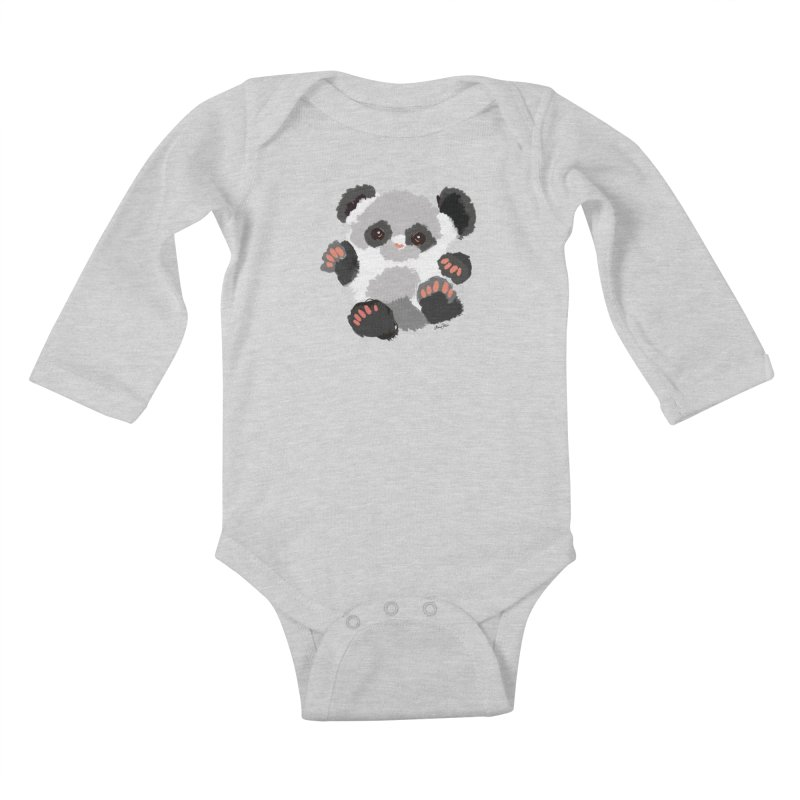 Baby panda Kids Baby Longsleeve Bodysuit by Art & design by Maria Daniela Hästö