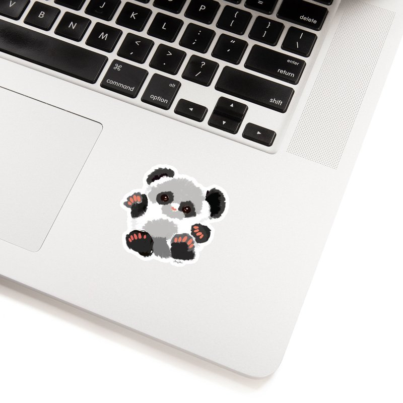 Baby panda Accessories Sticker by Art & design by Maria Daniela Hästö
