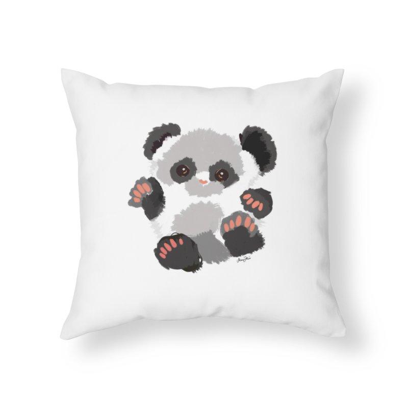 Baby panda Home Throw Pillow by Art & design by Maria Daniela Hästö