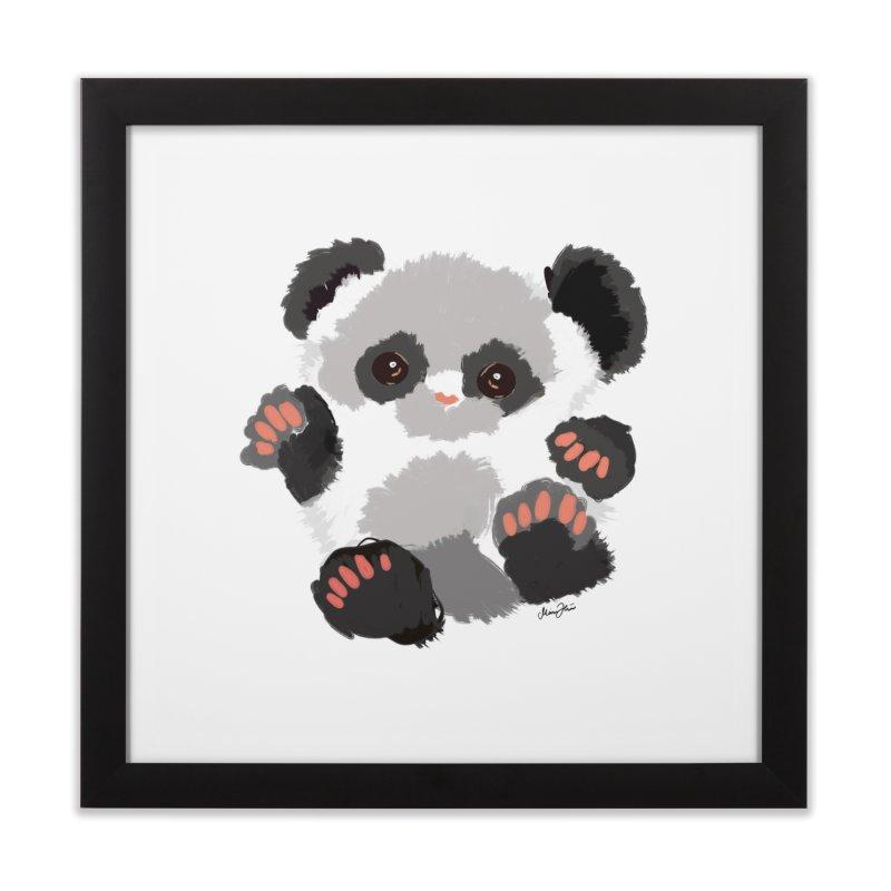 Baby panda Home Framed Fine Art Print by Art & design by Maria Daniela Hästö