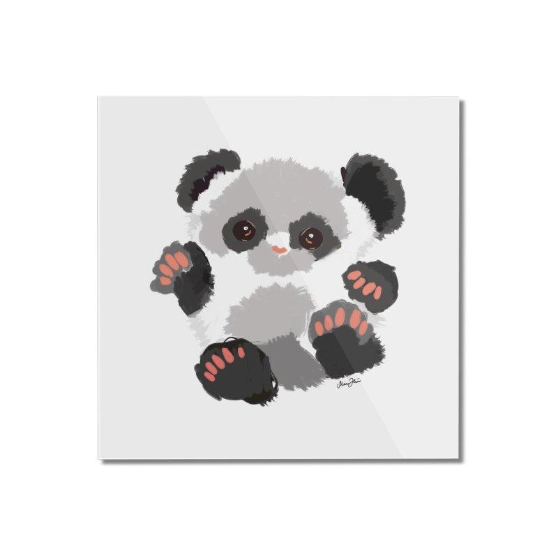 Baby panda Home Mounted Acrylic Print by Art & design by Maria Daniela Hästö
