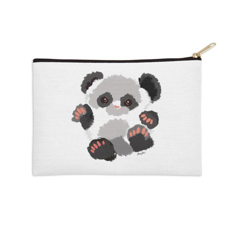 Baby panda Accessories Zip Pouch by Art & design by Maria Daniela Hästö