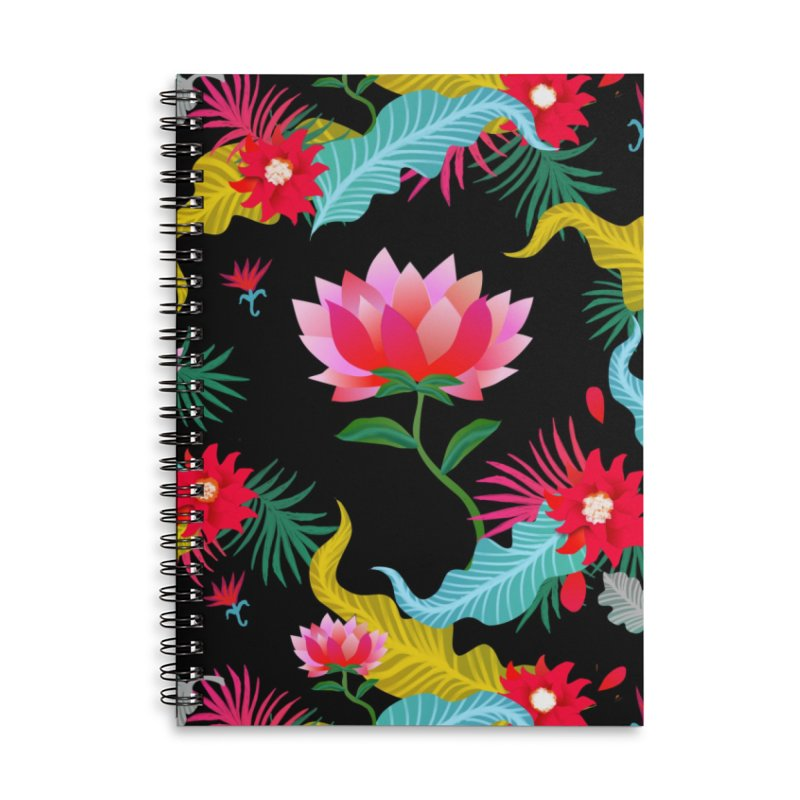 Lotus Accessories Notebook by Art & design by Maria Daniela Hästö