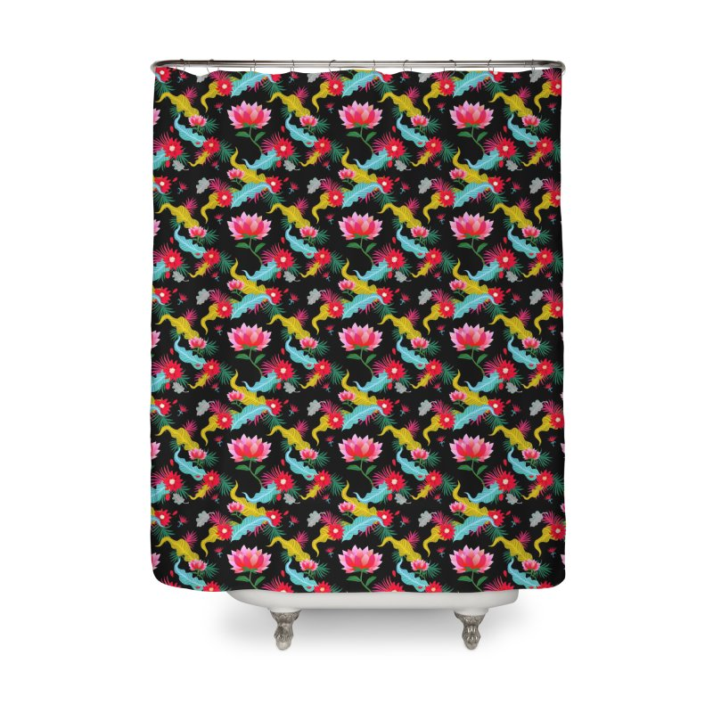 Lotus Home Shower Curtain by Art & design by Maria Daniela Hästö