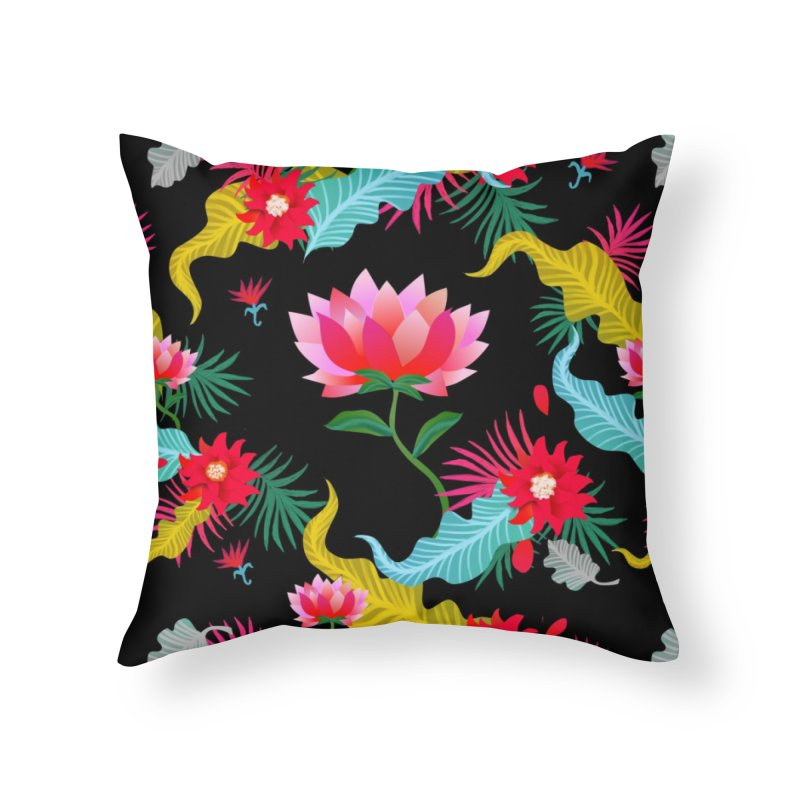 Lotus in Throw Pillow by Art & design by Maria Daniela Hästö