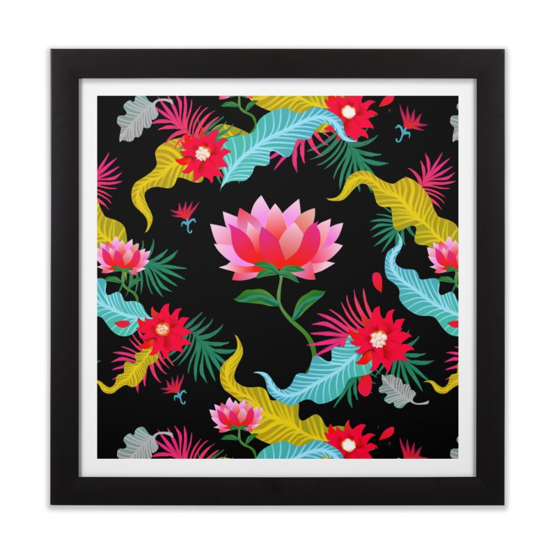Lotus Home Framed Fine Art Print by Art & design by Maria Daniela Hästö