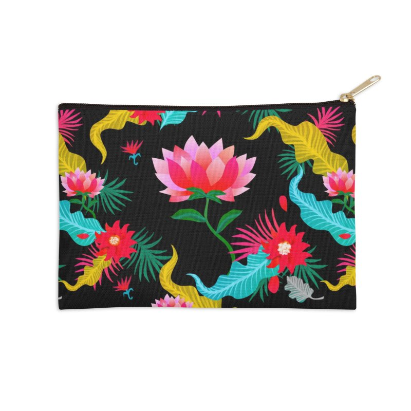 Lotus Accessories Zip Pouch by Art & design by Maria Daniela Hästö