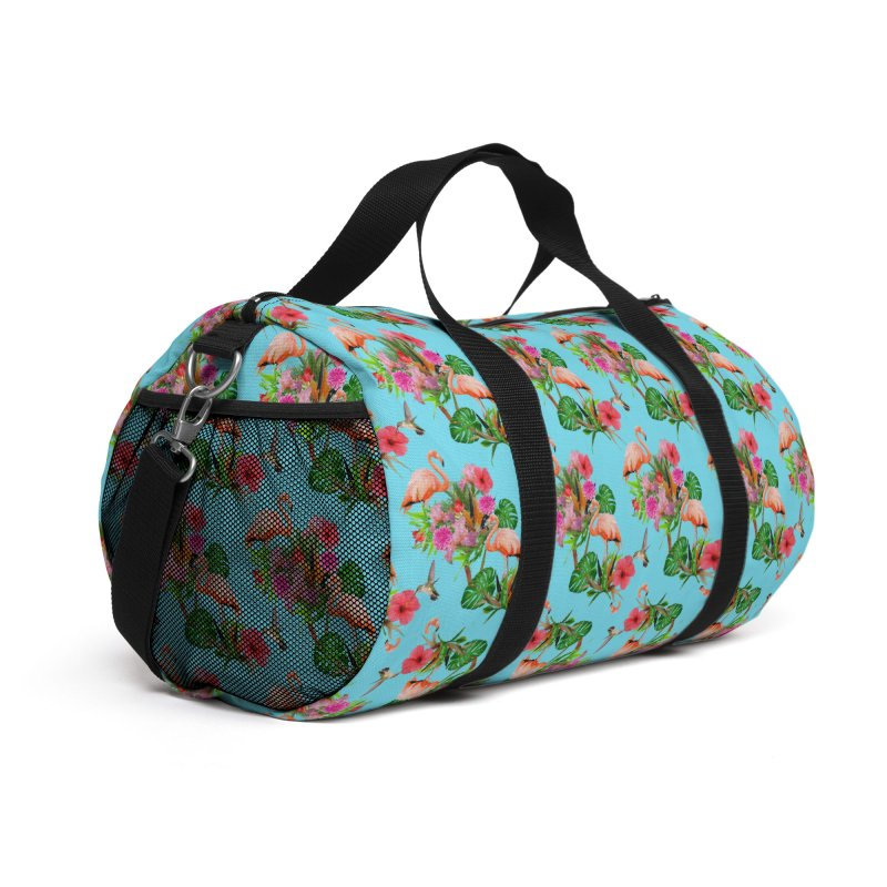 Tropical flamingo - Blue Accessories Bag by Art & design by Maria Daniela Hästö
