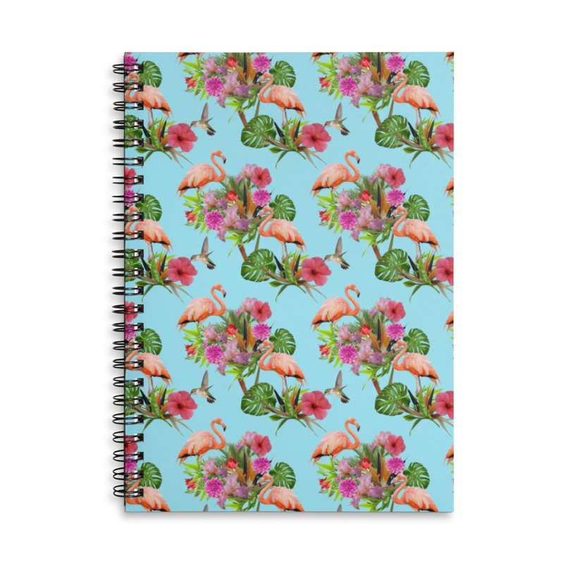 Tropical flamingo - Blue Accessories Notebook by Art & design by Maria Daniela Hästö