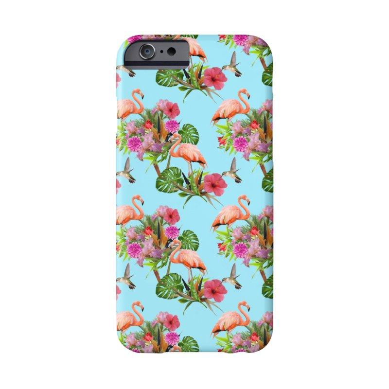 Tropical flamingo - Blue Accessories Phone Case by Art & design by Maria Daniela Hästö