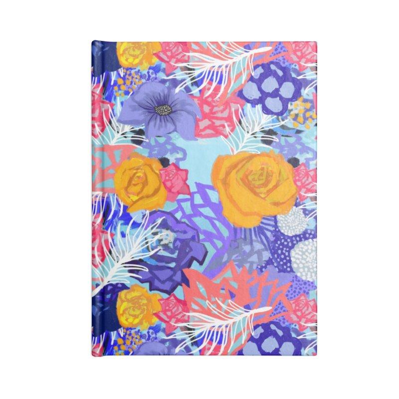 Wild flowers Accessories Notebook by Art & design by Maria Daniela Hästö