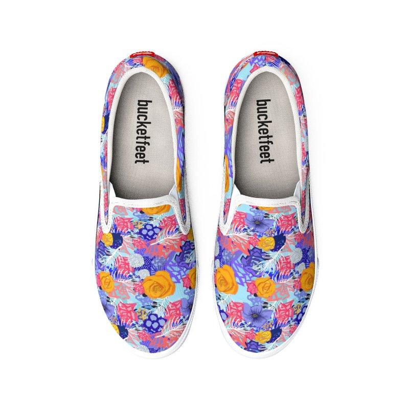 Wild flowers Men's Shoes by Art & design by Maria Daniela Hästö