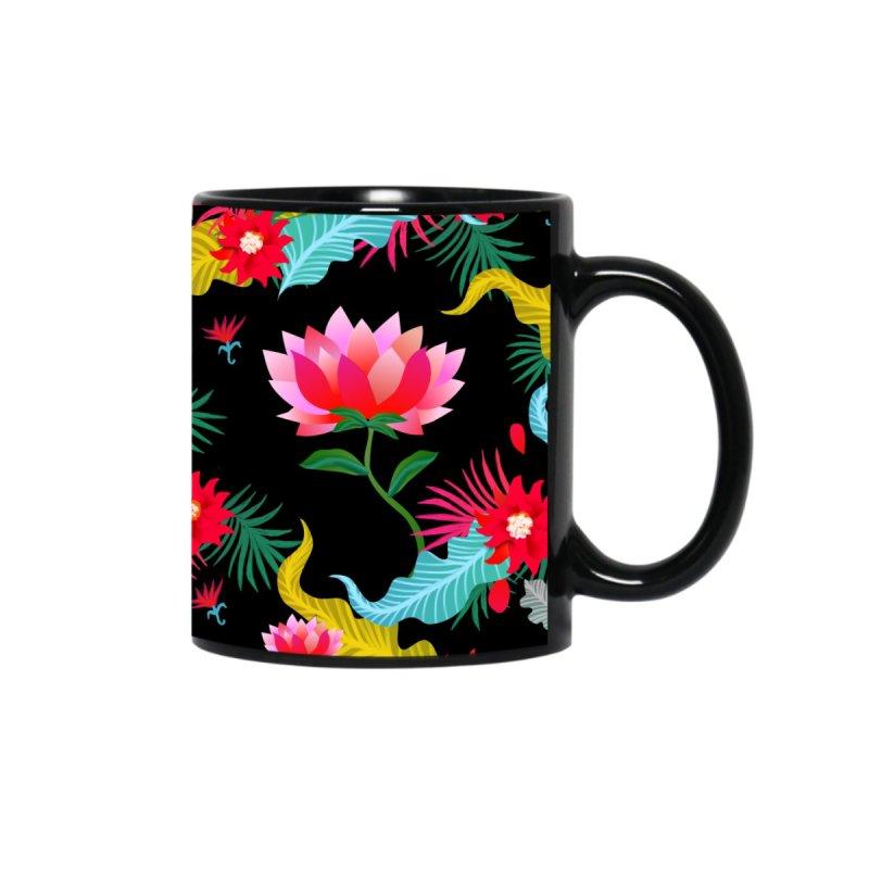 Lotus flower mug Accessories Mug by Art & design by Maria Daniela Hästö