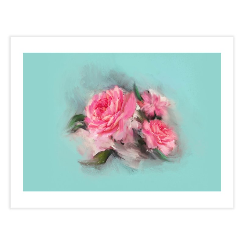 Rose painting Home Fine Art Print by Art & design by Maria Daniela Hästö