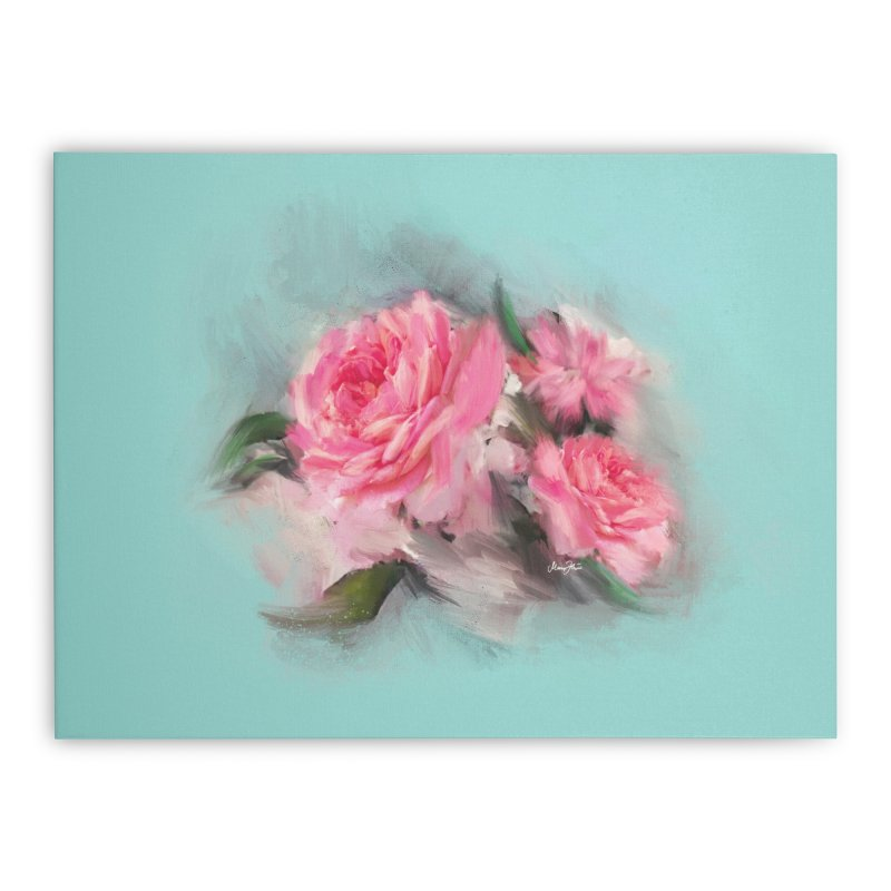Rose painting Home Stretched Canvas by Art & design by Maria Daniela Hästö