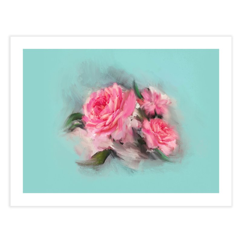Rose painting Home Fine Art Print by Art & design by Maria Daniela Hästö