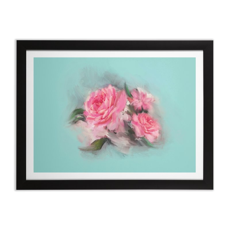 Rose painting Home Framed Fine Art Print by Art & design by Maria Daniela Hästö