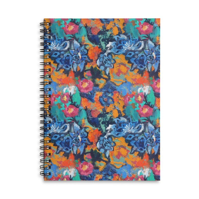 Abstract floral oilpainting Accessories Notebook by Art & design by Maria Daniela Hästö
