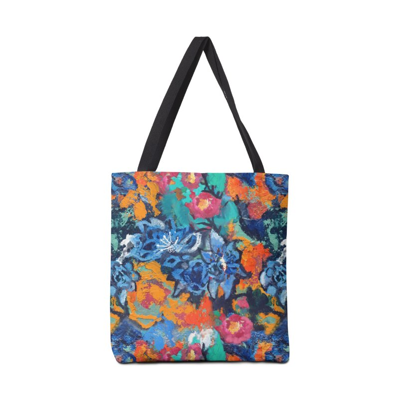 Abstract floral oilpainting Accessories Bag by Art & design by Maria Daniela Hästö