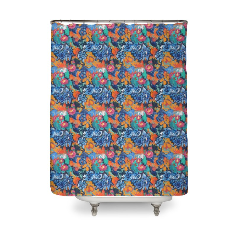 Abstract floral oilpainting Home Shower Curtain by Art & design by Maria Daniela Hästö
