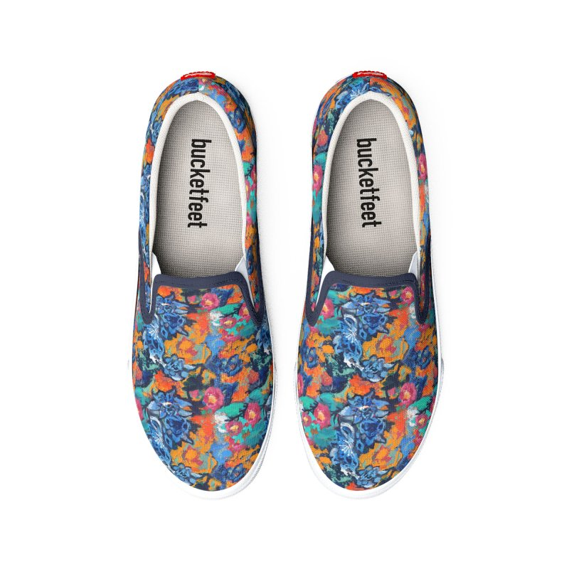 Abstract floral oilpainting Women's Shoes by Art & design by Maria Daniela Hästö