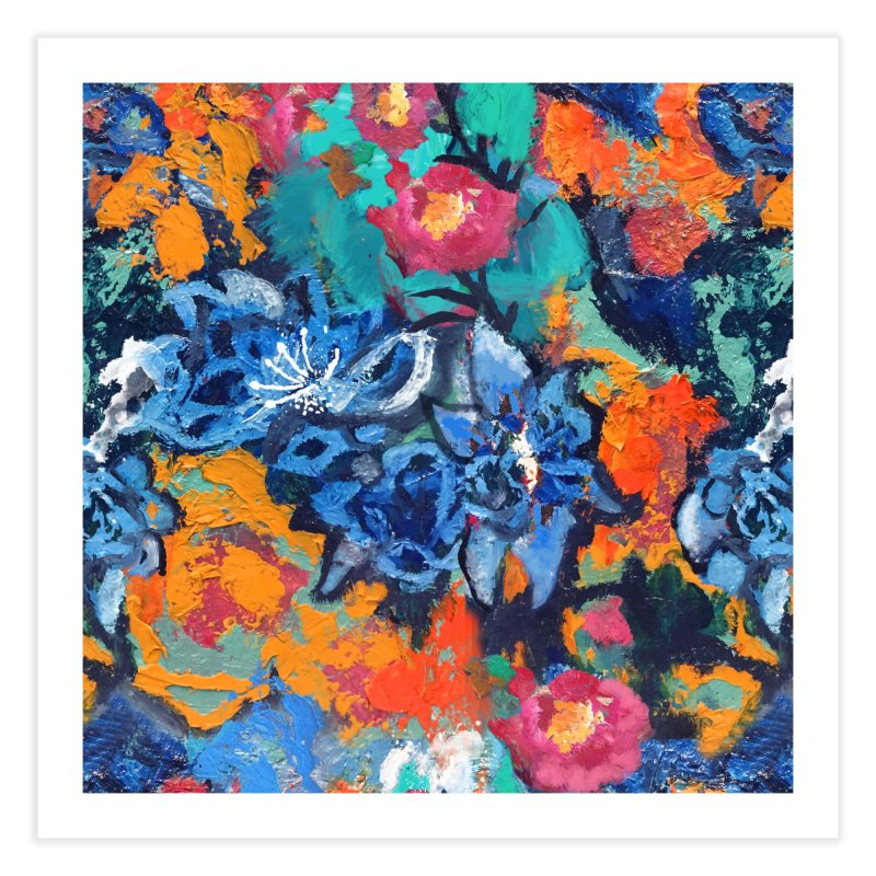 Abstract floral oilpainting Home Fine Art Print by Art & design by Maria Daniela Hästö