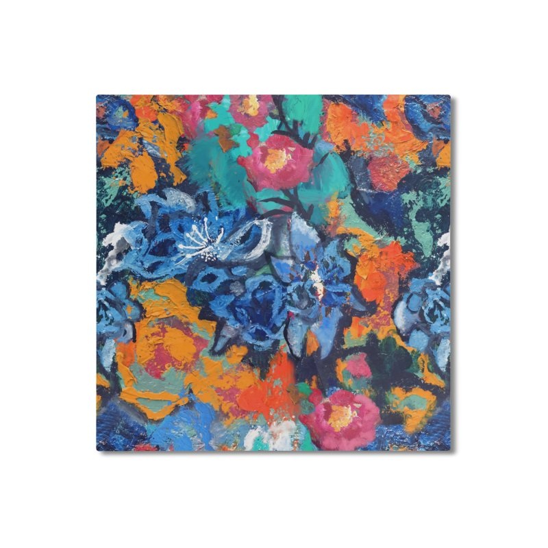 Abstract floral oilpainting Home Mounted Aluminum Print by Art & design by Maria Daniela Hästö