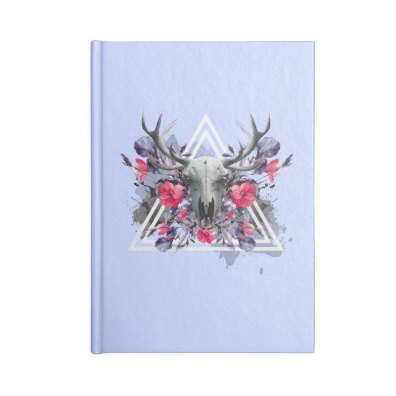 Floral deerprint Accessories Notebook by Art & design by Maria Daniela Hästö