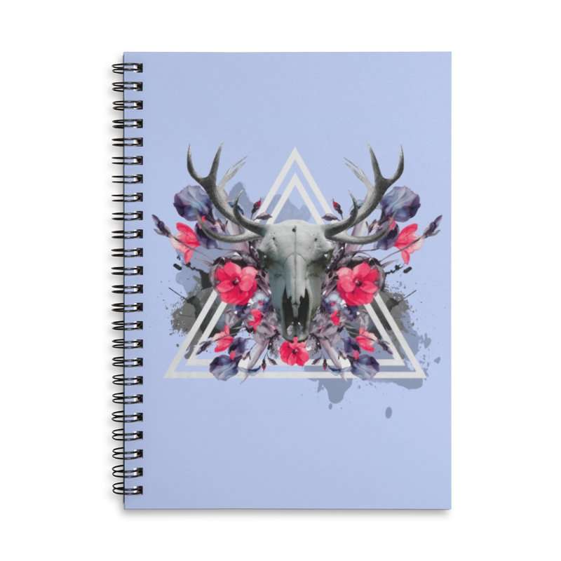 Floral deerprint Accessories Notebook by Art & design by Maria Daniela Hästö