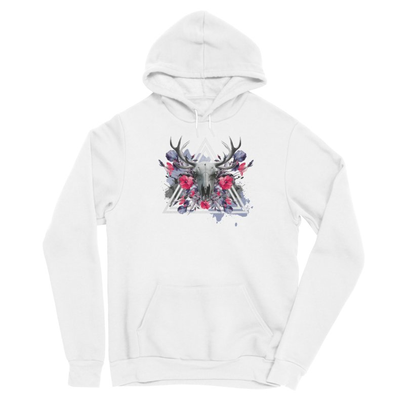 Floral deerprint Women's Pullover Hoody by Art & design by Maria Daniela Hästö